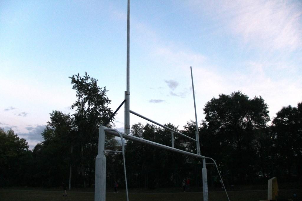 Первые ворота регби в Благовещенске